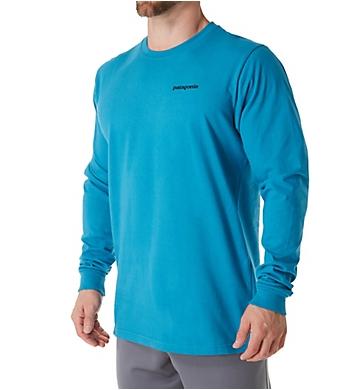 Patagonia P-6 Logo 100% Organic Cotton Long Sleeve T-Shirt