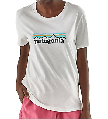 Patagonia Logo Organic Cotton Crew Neck Short Sleeve T-Shirt