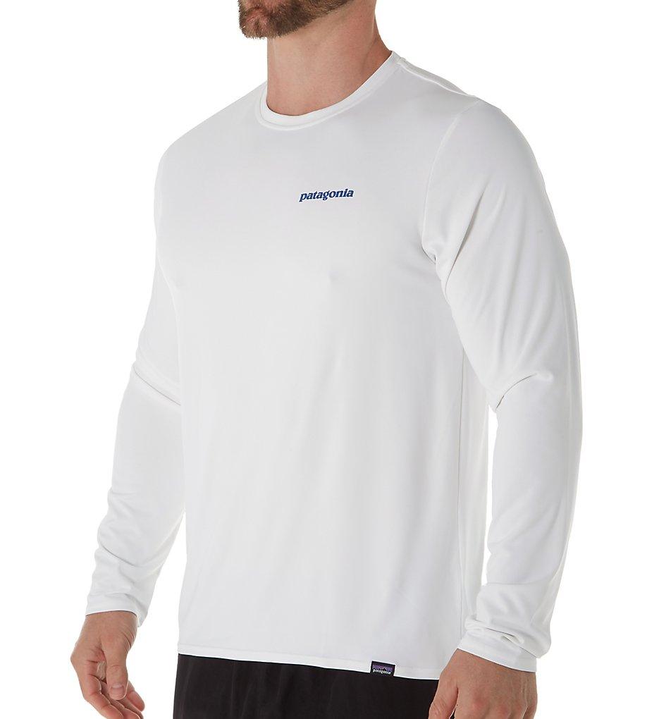 Patagonia 45190 Capilene Cool Daily Graphic Long Sleeve T-Shirt (Boardshort Logo: White Xl)