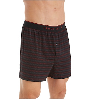 Perry Ellis Luxe Herringbone Print Boxer Short