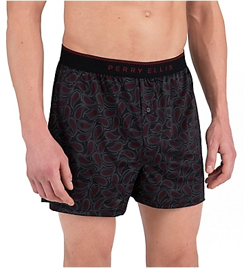 Perry Ellis Luxe Paisley Fill Boxer Short