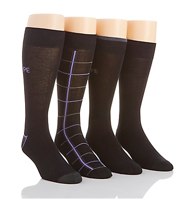 Perry Ellis Superior Soft Luxury Dress Socks - 4 Pack