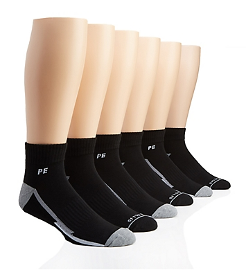 Perry Ellis Speed Dry Performance Quarter Socks - 6 Pack
