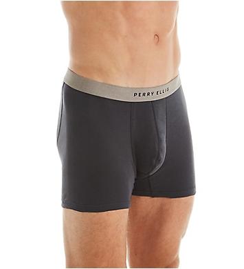Perry Ellis 100% Cotton 1x1 Rib Boxer Briefs - 4 Pack