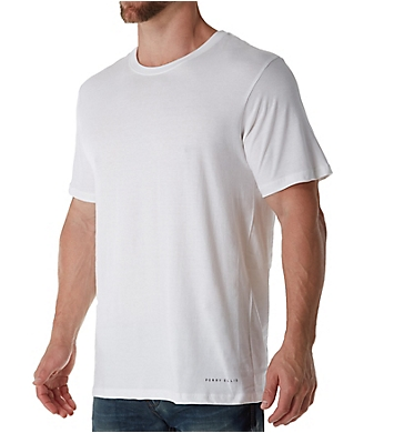Perry Ellis Identity 100% Pure Cotton Crew T-Shirts - 3 Pack