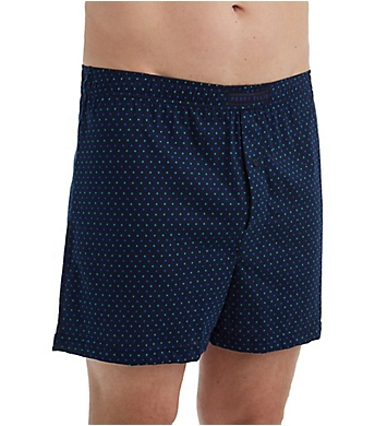 Perry Ellis Cotton Knit Mini Dot Print Boxer Short