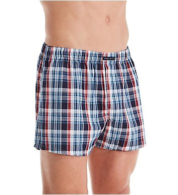 Perry Ellis 100% Pure Cotton Woven Boxers - 3 Pack
