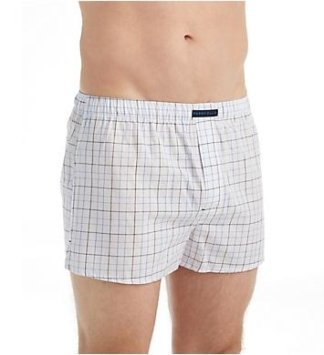 Perry Ellis 100% Cotton Plaids & Stripes Woven Boxers - 3 Pack