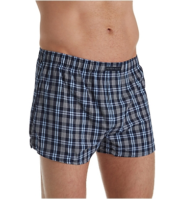 Perry Ellis 100% Cotton Woven Boxers - 3 Pack