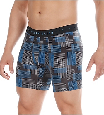 Perry Ellis Luxe Digital Grid Plaid Boxer Brief