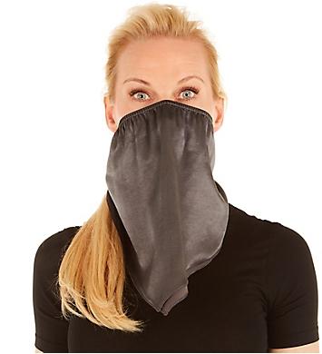 PJ Harlow Solid Coal Satin Bandana Mask