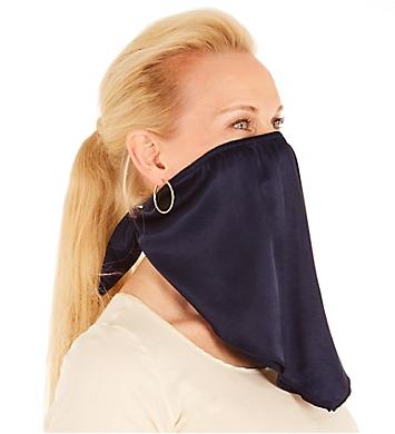 PJ Harlow Solid Navy Satin Bandana Mask