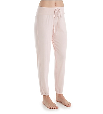 PJ Harlow Ribbed Jogger Pant with Satin Drawstring