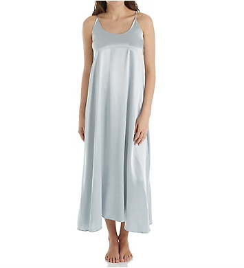 PJ Harlow Satin Long Nightgown With Gathered Back