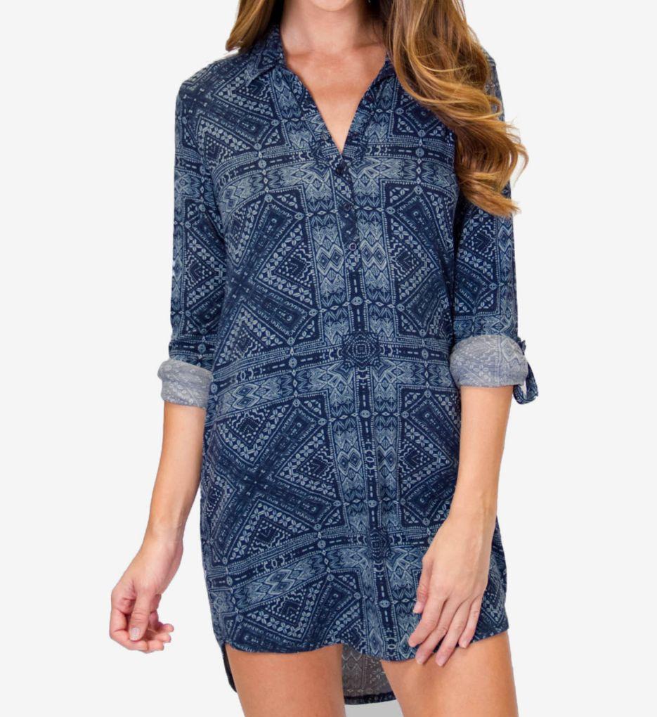 PJ Salvage Blue Batik Sleepshirt