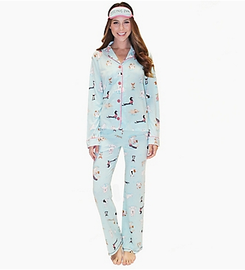 PJ Salvage Feeling Zen PJ Set with Eyemask
