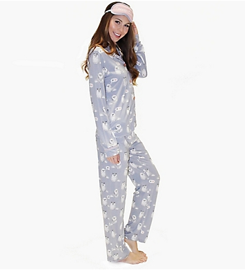 PJ Salvage Purrty Tired PJ Set with Eyemask