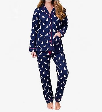 PJ Salvage Fantastic Flannels Cats Pajama Set