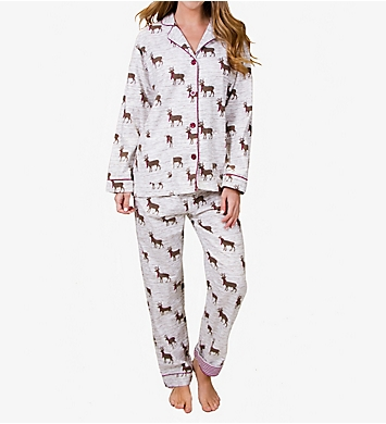 PJ Salvage Fantastic Flannels Deerly Loved Pajama Set