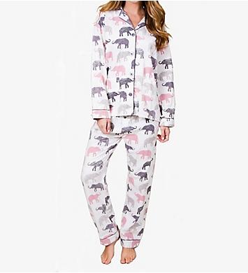 PJ Salvage Fantastic Flannels Elephant Walk Pajama Set