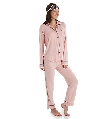 PJ Salvage Modal Long Sleeve Button Front PJ Set