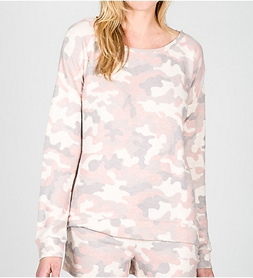 PJ Salvage Love is a Battle Soft Peachy Long Sleeve Top