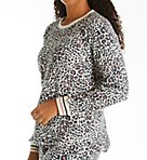 Brushed Thermal Leopard Long Sleeve Top