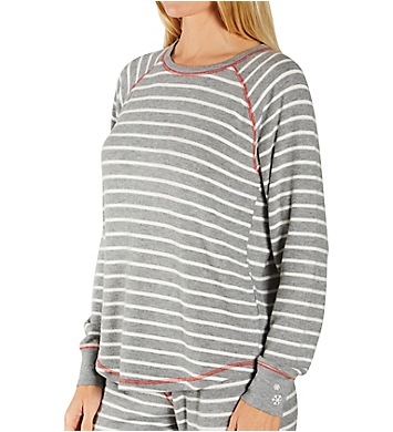 PJ Salvage Winter Stripe Peachy Top