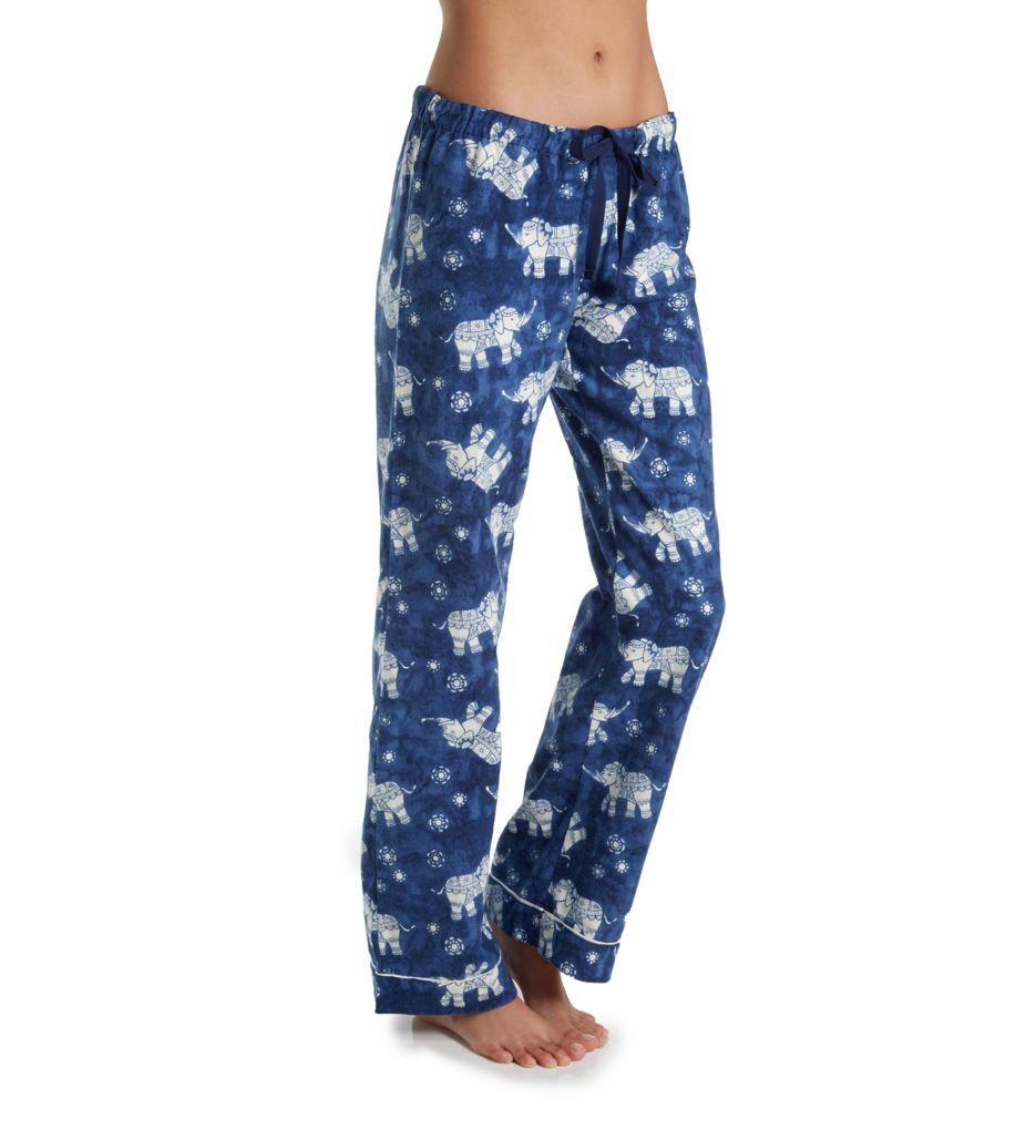 PJ Salvage Fantastic Flannel Blue Elephant Pant