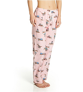 PJ Salvage Don't Hurry Be Happy Cotton Flannel PJ Pant