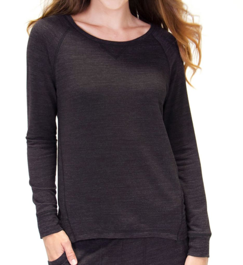 PJ Salvage Lounge Essentials French Terry Long Sleeve Top