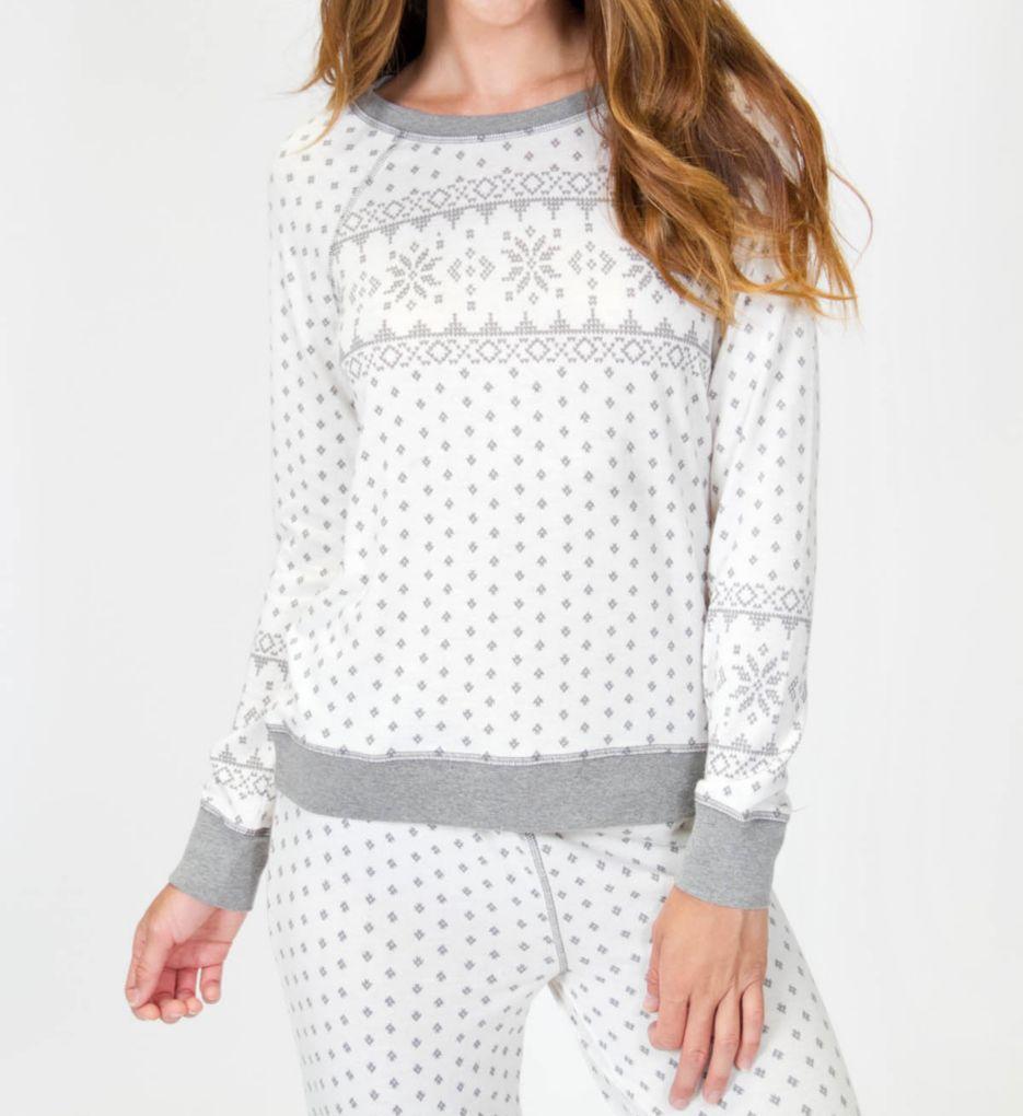 PJ Salvage Naturally Grey Long Sleeve Top