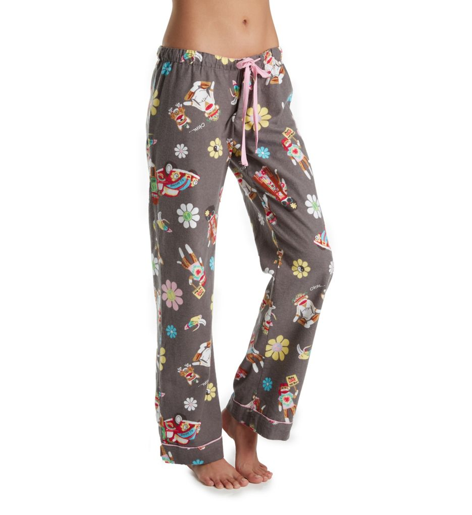 PJ Salvage Fantastic Flannel Hippie Monkey Pant