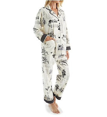 PJ Salvage Fantastic Flannel Western Pajama Set