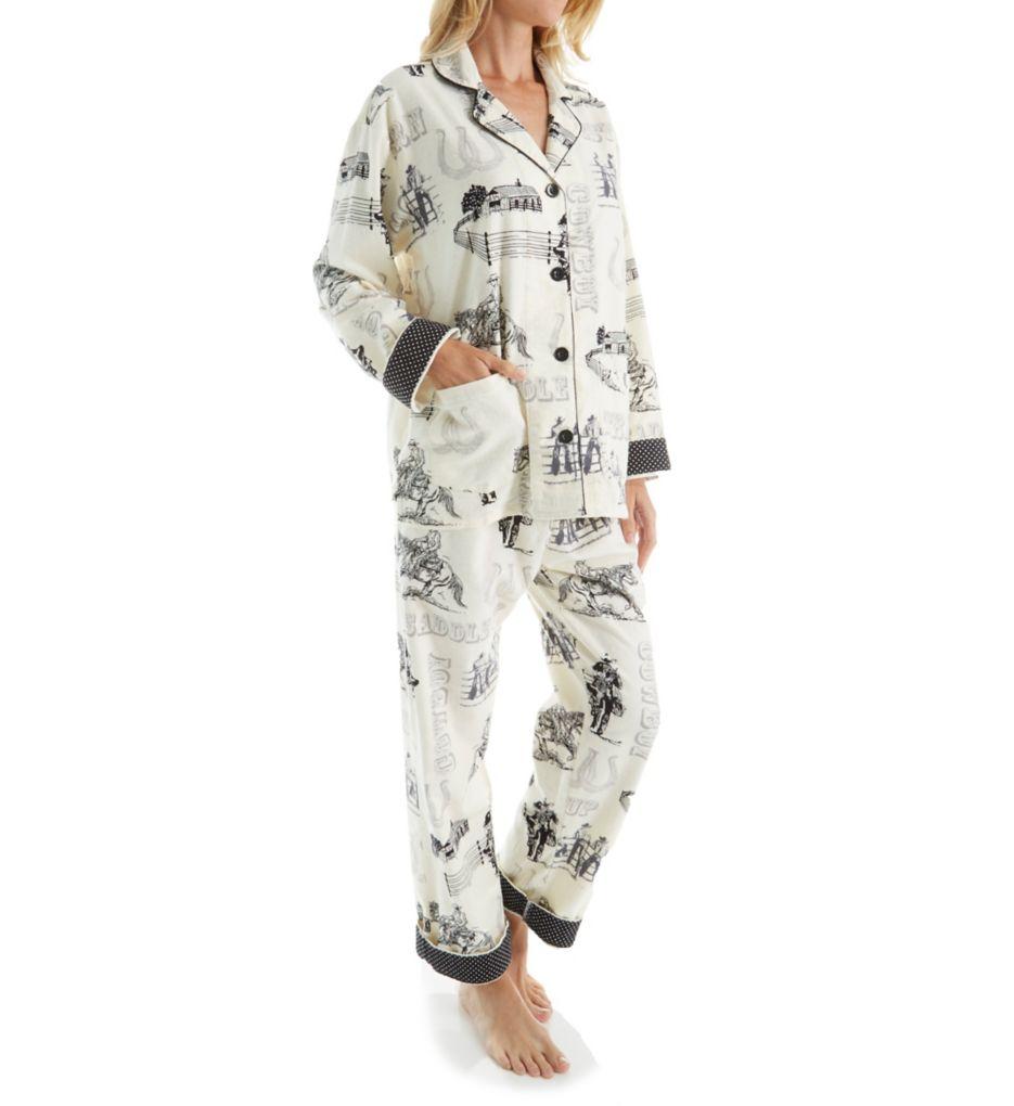 PJ Salvage Fantastic Flannel Western Pajama Set