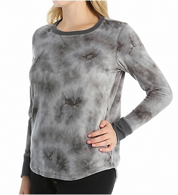 PJ Salvage Shades of Grey Velour Long Sleeve Top