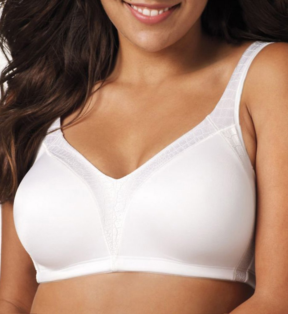 Playtex - Playtex 4E77 18 Hour Back Smoother Wirefree Bra (White 38B)
