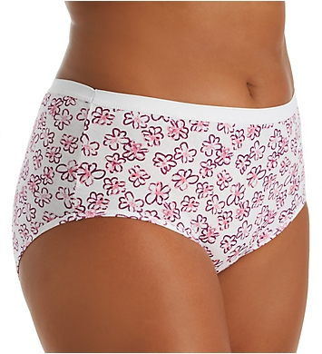 Playtex Cotton Comfort Plus Size Brief Panty - 5 Pack