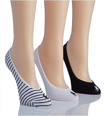 Polo Ralph Lauren Blue Label Polo Sport Stripe Liner Socks - 3 Pack