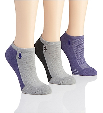 Polo Ralph Lauren Blue Label Cushioned Contrast Sole Mesh Top Low Cut - 3 Pack