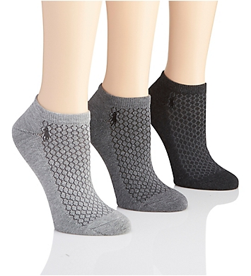 Polo Ralph Lauren Blue Label Cushioned Sole Honeycomb Mesh Low Sock - 3 Pack