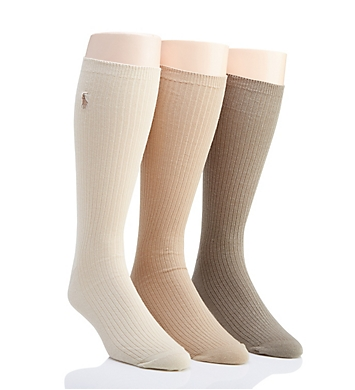 Polo Ralph Lauren Big and Tall Non-Elastic Crew Socks - 3 Pack