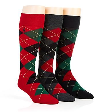 Polo Ralph Lauren Classic Argyle Cotton Socks - 3 Pack