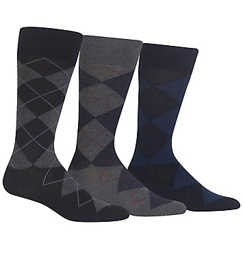 Polo Ralph Lauren Big and Tall Classic Argyle Cotton Socks - 3 Pack