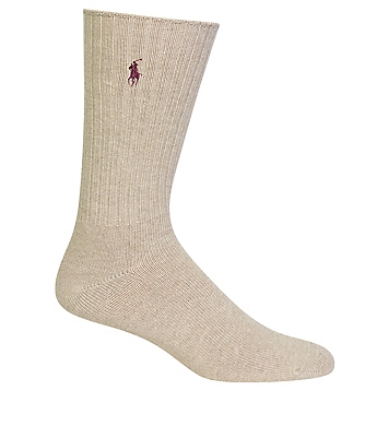 Polo Ralph Lauren 811Cotton Crew Sock with Polo Embroidery