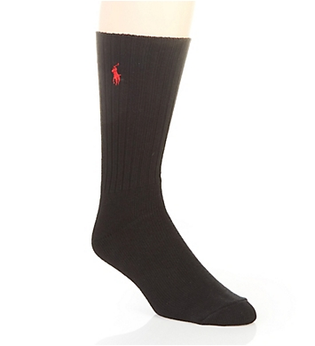 Polo Ralph Lauren Cotton Crew Fashion Sock with Polo Embroidery