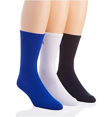 Polo Ralph Lauren Technical Crew with Arch Support Socks - 3 Pack