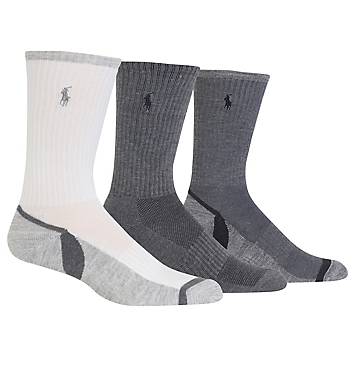 Polo Ralph Lauren Athletic Crew Sock With Polo Embroidery - 3 Pack