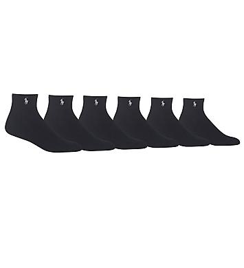 Polo Ralph Lauren Rib Cuff Quarter Socks - 6 Pack