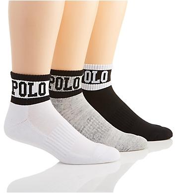 Polo Ralph Lauren Logo Cushion Quarter Socks - 3 Pack